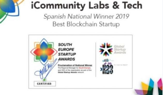 🏆 Best blockchain Startup at the South Europe startup Awards!